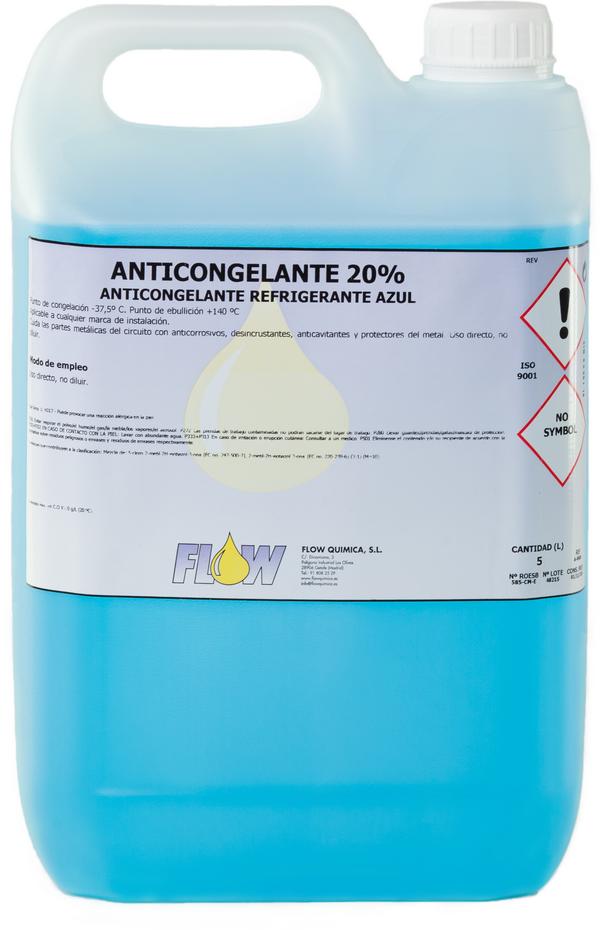 anticongelante refrigerante 20%